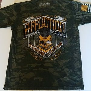 Affliction American Customs t-shirt. Camo XL